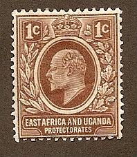 East Africa and Uganda  Scott #31 Mint H  Scott CV $3.00