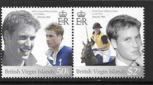 BRITISH VIRGIN ISLANDS SG1128a 2003 PRINCE WILLIAMS BIRTHDAY MNH