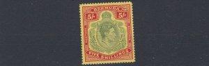 BERMUDA  1941  S G  118B   5/-  LINE PERF MH  CAT £300