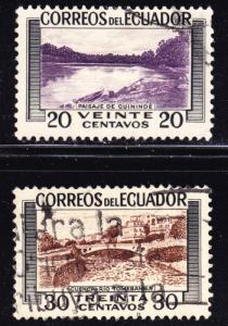 Ecuador Scott 578-579  F to VF used.