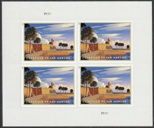 US Priority Mail Castillo de San Marcos $7.95 sheet (4 stamps) MNH 2021 1/31