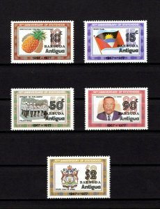 BARBUDA - 1977 - STATEHOOD - 10th ANNIVERSARY - FLAG - ARMS - MINT MNH SET!