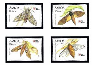 Samoa 797-800 MNH 1991 Somoan Hawkmoths