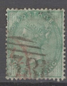COLLECTION LOT OF # 1905 GREAT BRITAIN #28 1856 CV=$300 CREASED