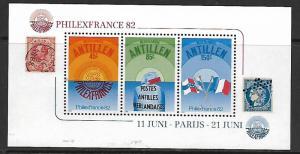 CURACAO  484a MNH PHILEXFRANCE SOUVENIR SHEET 1982