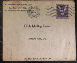 1943 Texarkana AR USA Application For War Ration Book Card Cover Ernest Klein