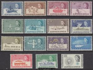 1963 British Antarctic Territory Pictorials, set of 15, SG 1-15, MH