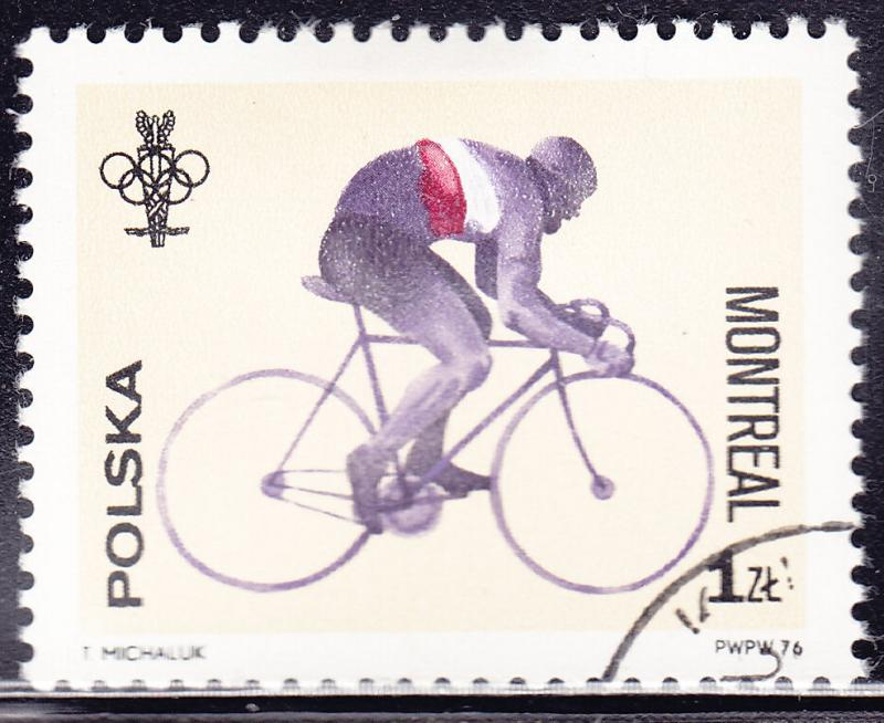 Poland 2167 USED - 1976 Olympic Bicycling
