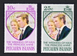 Pitcairn Princess Anne Royal Wedding 2v SG#131-132 SC#135-136