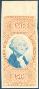 #R101E $50.00 USIR BI-COLOR ESSAY ON BOND -- UNLISTED & RARE -- HV3526