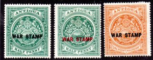 ANTIGUA MR1-MR3 MH SCV $8.10 BIN $4.05 CREST