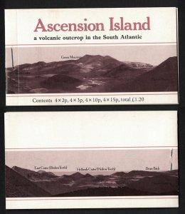 Ascension Flowers Booklet Stapled left 1981 MNH SG#SB3