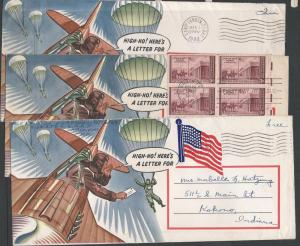 High-Ho! Here's A Letter For, Six Covers, U.S.A.
