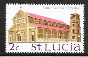 St Lucia 262: 2c Roman Catholic Cathedral, MH, F-VF