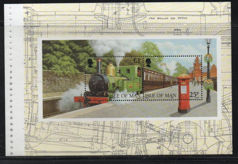 Isle of Man Sc 785b 1998 Engine & Train booklet pane  mint NH
