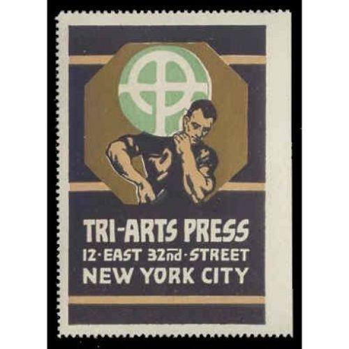 TRI-ARTS PRESS Printer Advertising Poster Stamp