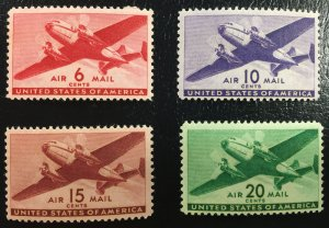 C25,C27,C28,C29 MNHOG Airmail Transport Issue (Set of 4 stamps)