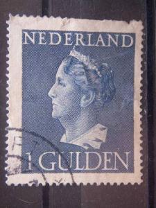 NETHERLANDS, 1946, used 1g, Wilhelmina, Scott 278