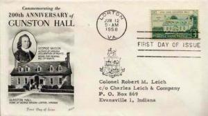 United States, First Day Cover, Virginia