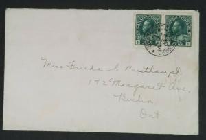 1912 Berlin Ontario Canada RPO Railway Post Office Railroad Cover