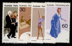 AUSTRALIA QEII SG641-644, 1977 performing arts set, NH MINT.