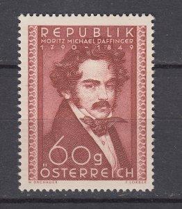 J29449, 1950 austria used #569 artist