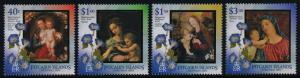 Pitcairn Islands 587-90 MNH Christmas, Art, Paintings, Flowers