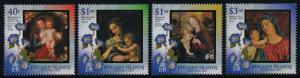Pitcairn Islands 587-90 MNH Christmas, Art, Paintings, Flowers