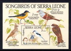 Sierra Leone 675 Birds Souvenir Sheet MNH VF