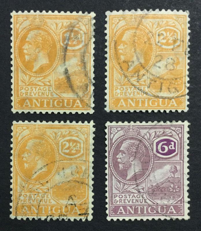 MOMEN: ANTIGUA SG #72,75 SCRIPT USED £55 LOT #1384