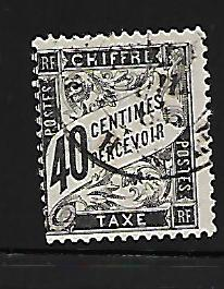 FRANCE J20 USED POSTAGE DUE, KEY ISSUE, 1882