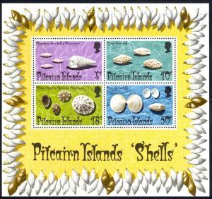 Pitcairn Islands Sc# 140a MNH Souvenir Sheet 1974 Shells
