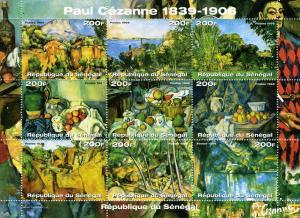 Senegal 1999 PAUL CEZANNE Paintings Sheet Perforated Mint (NH)
