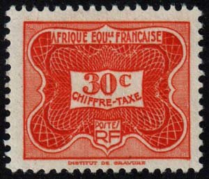 French Equatorial Africa - Scott J13 - Mint-Hinged