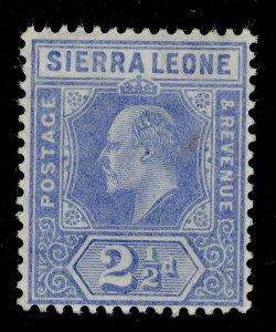SIERRA LEONE EDVII SG103, 2½d blue, LH MINT.