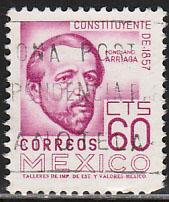 MEXICO 1092, 60c 1950 Defin 9th Issue Unwmkd Fosfo Glazed. USED. F-VF. (1446)