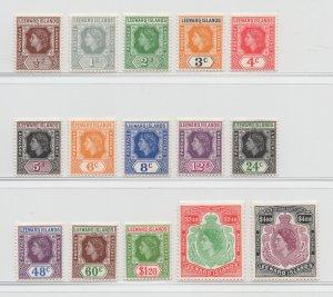 Leeward Islands - 1954 - SG 126-40 - MNH