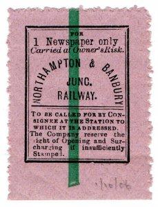 (I.B) Northampton & Banbury Junction Railway : Single Newspaper Parcel