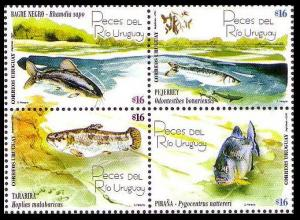 Uruguay Fish 4v SG#2979-2982