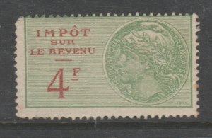 France and Colonies revenue Fiscal stamp 11-18-20-- MNH Gum