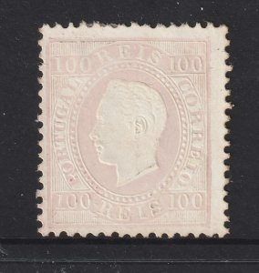 Portugal a MNG 100R straigh label perf 12.5  from the 1870 set