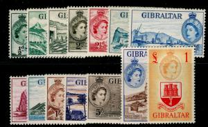 GIBRALTAR SG145-158, COMPLETE SET, NH MINT. Cat £180.