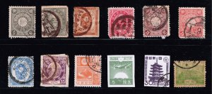 JAPAN STAMP OLD USED STAMPS COLLECTION LOT  #M3