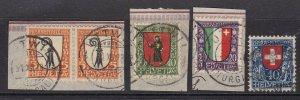 SWITZERLAND  ^^^^1923  sc# B25-B28  used SEMIS POSTALS set $80.25@lar3825swiss