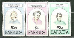 Barbuda MNH 474-5,477 Famous Women Health SCV 2.00
