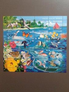 Cocos Islands 331 VF MNH sheet of 20 different (Yr: 1999) Scott $ 16.00