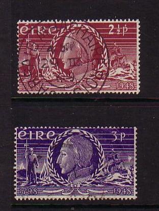 Ireland Sc 135-6 1948 Wolf Tone stamp set  used