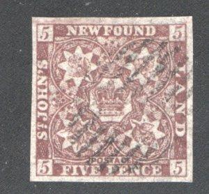 NEWFOUNDLAND #5 XF, Used  CV 600.00    ...   4350002