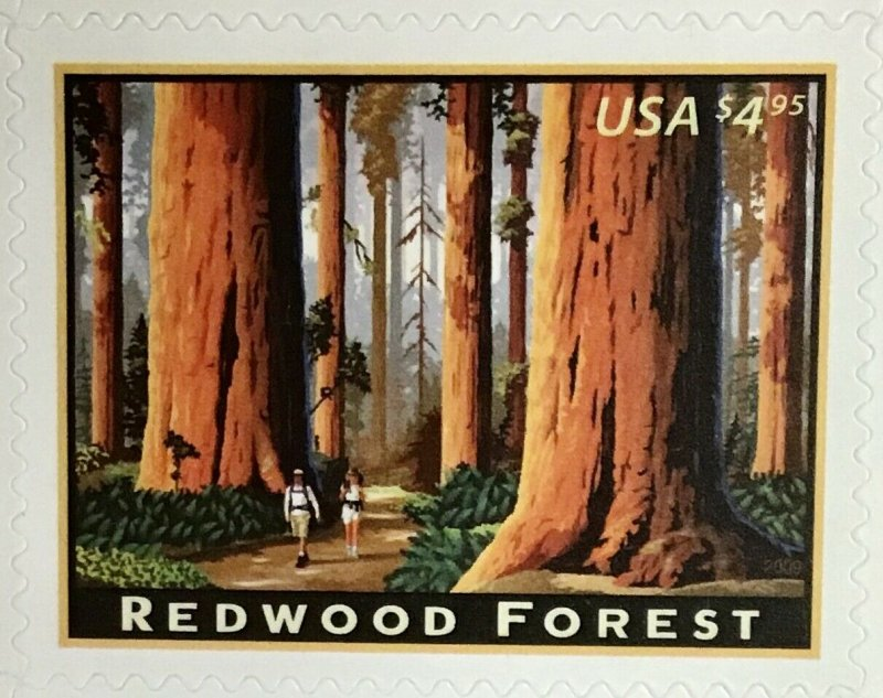 4378   Redwood Forest, Priority Mail   MNH  $4.95 sheet 20. FV $99. Issued 2011