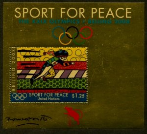 UNITED NATIONS Sc# NY 964 GE 489 VI 431 2008 Sport for Peace Souv Sheets MNH